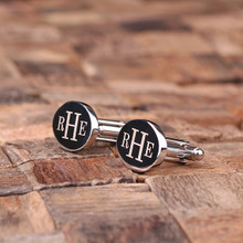 Groomsmen Bridesmaid Gift Personalized Engraved Cuff Links – Classic Oval