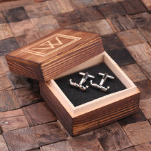Groomsmen Bridesmaid Gift Personalized Engraved Cuff Links – Mustache