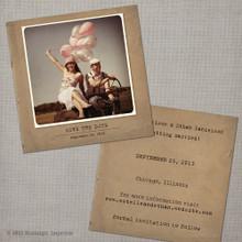 Estelle - 5.25x5.25 Vintage Photo Save the Date Card
