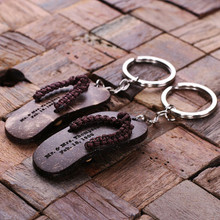 Groomsmen Bridesmaid Gift Personalized Key Chain – Flip Flop