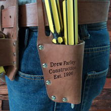 Groomsmen Bridesmaid Gift Engraved Cow Leather Tool Belt