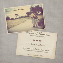 Daphne - 4x6 Vintage Photo Save the Date Card