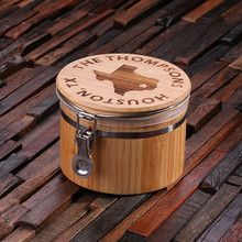 Groomsmen Bridesmaid Gift Bamboo Canisters_Small