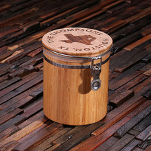 Groomsmen Bridesmaid Gift Bamboo Canisters_Large