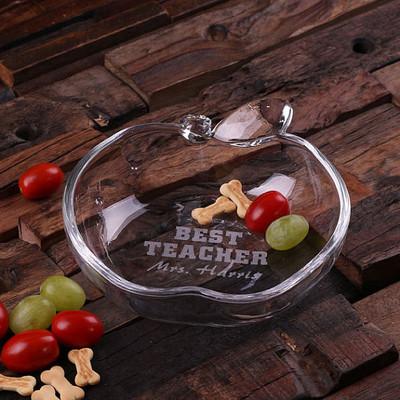 Groomsmen Bridesmaid Gift Apple-shaped Glass Dish