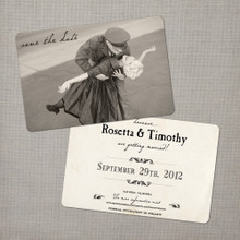 Rosetta - 4x6 Vintage Photo Save the Date Card