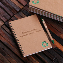 Groomsmen Bridesmaid Gift Eco-Friendly Notebook and Pen