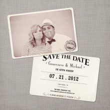 Genevieve - 4x6 Vintage Photo Save the Date Card