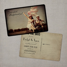 Bridget - 4x6 Vintage Photo Save the Date Postcard card