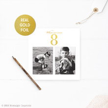Foil Childhood Photo Table Numbers