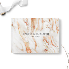 Copper Marble Wedding Guest Book