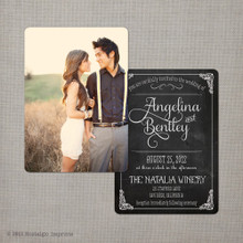 angelina 3 5x7 vintage wedding invitation - Postcard Wedding Invitations
