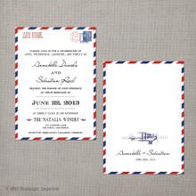 Annabelle - 5x7 Vintage Wedding Invitation