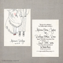 Malissa - 5x7 Vintage Wedding Invitation