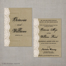 Octavia - 5x7 Vintage Wedding Invitation