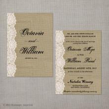 Octavia - 5x7 Vintage Wedding Invitation