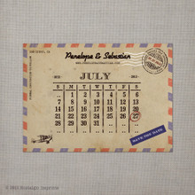 Airmail - 4x5.5 Vintage Save the Date Magnet