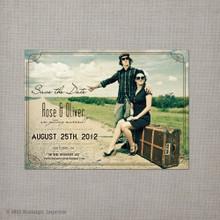 Rose - 4x5.5 Vintage Save the Date Magnet
