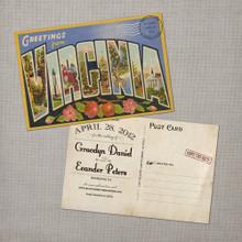 Save The Date Card, Vintage Save The Date Card, Vintage Travel Poster,  Vintage