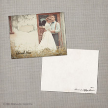 Abbey 3 - 4.25x5.5 Vintage Wedding Thank You Card