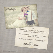 Ainsley 1 - 4x6 Vintage Wedding Thank You Card