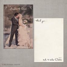 Angelica - 4x6 Vintage Wedding Thank You Card