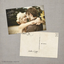 Arabella - 4x6 Vintage Wedding Thank You Postcard card