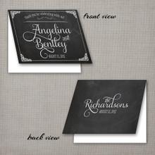 Angelina - 4.25x5.5 Folded Vintage Wedding Thank You Card