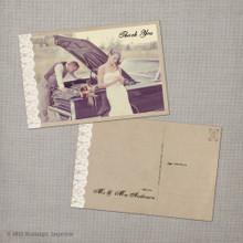 Maribelle - 4x6 Vintage Wedding Thank You Postcard card