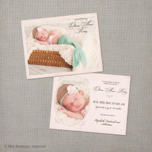 Photo Baby Birth Announcement Card Olivia - 4.25x5.5 Baby Birth Announcement