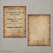 Vivienne - 5x7 Vintage Wedding Invitation