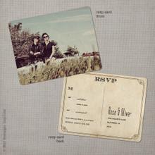 Rose 2 - 4.25x5.5 Vintage RSVP Postcard
