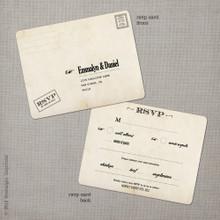 Emmalyn 2 - 4.25x5.5 Vintage RSVP Postcard