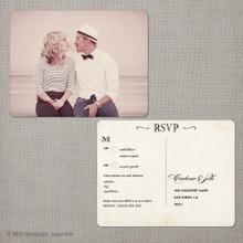 Cadence 2 - 4.25x5.5 Vintage RSVP Postcard