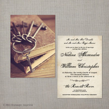 Nadine - 5x7 Vintage Wedding Invitation