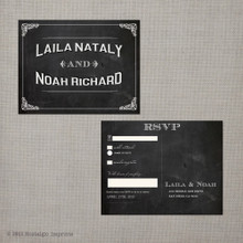 Laila - 4.25x5.5 Vintage RSVP Postcard