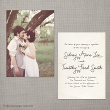Sidney - 5x7 Vintage Wedding Invitation