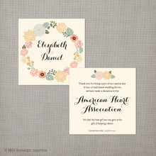 Elizabeth - 2.5x2.5 Favor Donation Card