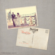 Jennifer 2 - 4x6 Vintage Wedding Thank You Postcard