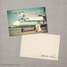 Photo Vintage Wedding Thank You Postcard Card Andrea 2 - 4x6 Vintage Wedding Thank You Card