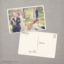 Aralyn 1 - 4x6 Vintage Wedding Thank You Postcard