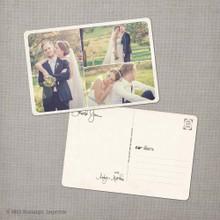 Aralyn 3 - 4x6 Vintage Wedding Thank You Postcard