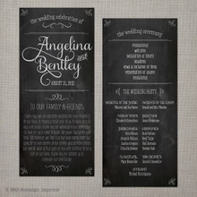 Wedding Program - Vintage Chalkboard 1