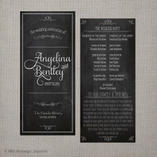 Wedding Program - Vintage Chalkboard 3