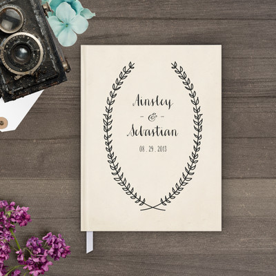 wedding guest book Guestbook - Wreath 1 (gb0005)