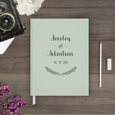wedding guest book Guestbook - flower floral Wreath 2 (gb0006)