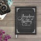 Chalkboard wedding guestbook guest book