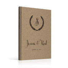 wedding guest book Guestbook - Monogram 1 (gb0018)