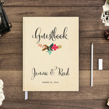 Wedding guest book Guestbook - Flower Garden 1 (gb0023)