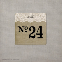 Table Numbers - Burlap & Lace (tn0005)